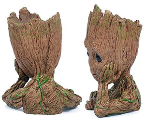 Moive Baby Grootted Planter Pen Container Guardians Of The Galaxy Tree Man Flowerpot with Hole Action Figures Model Toy.