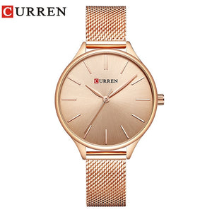 Women's Quartz Stainless Steel Waterproof Wristwatch