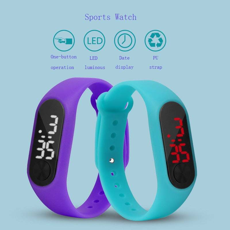 Children's Sports Digital Wristwatch with LED