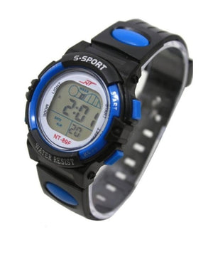 Children's Waterproof Sports Digital Wristwatch with LED