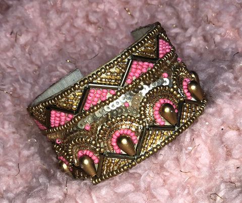 Gold and Pink Cuff