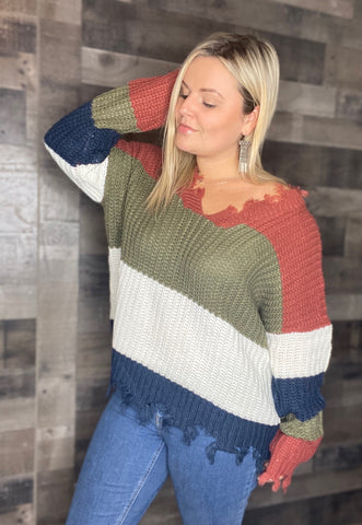 Fall Fray Sweater