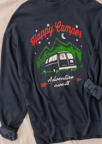 Happy Camper Vintage Sweatshirt