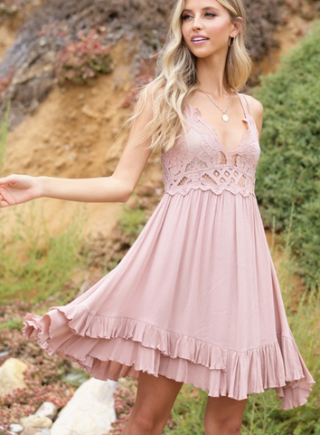 Olivia Taupe Dress