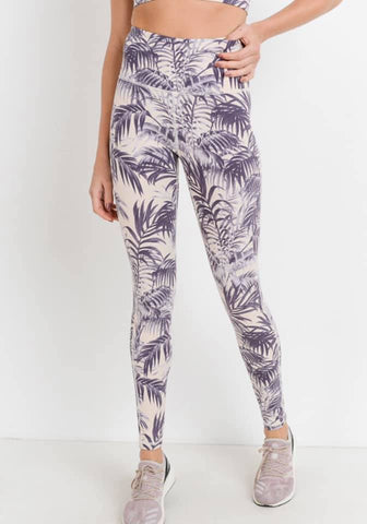 Purple Palms Leggings