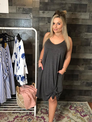 Grey Zenana Tank Dress