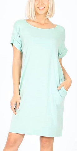 Mint Tshirt Dress