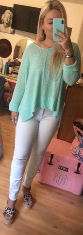 Mint Lightweight Sweater