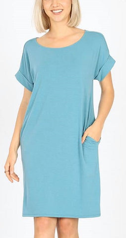 Teal Tshirt Dress