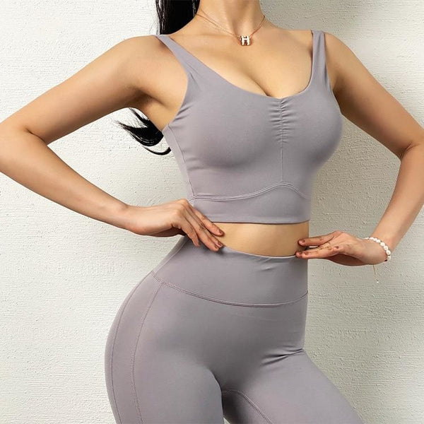 B|Fit LUXE BREEZE Sports Crop - Lilac Grey - B|Fit Amazighld