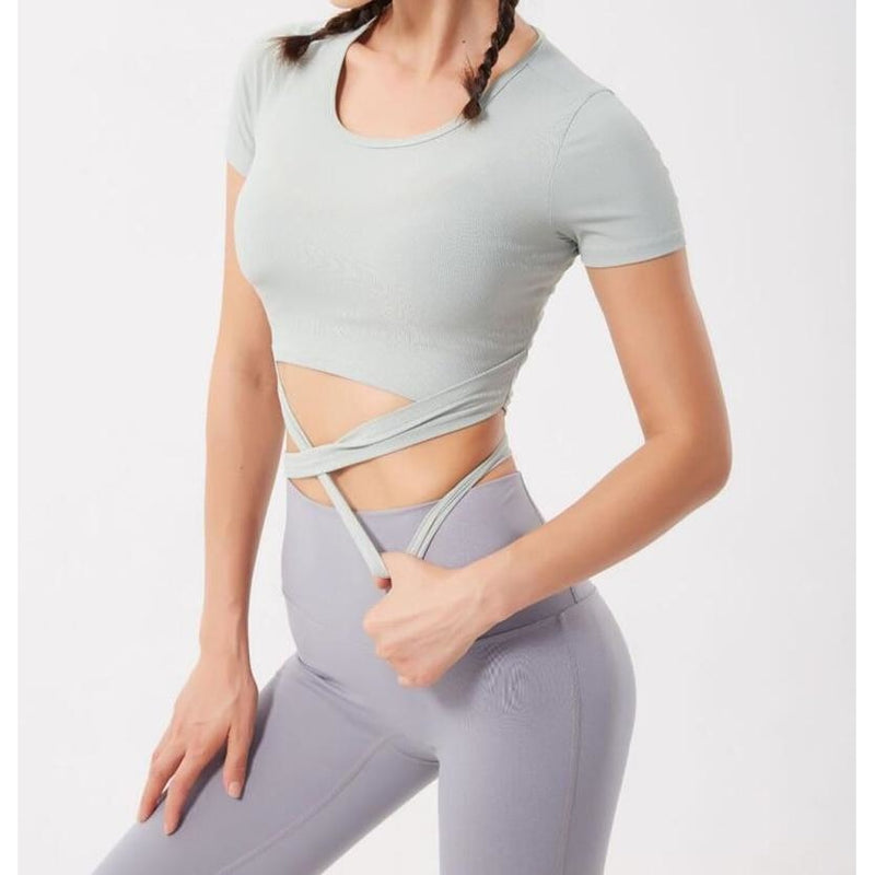 B|Fit LUXE Crossed Quarter-Sleeved Crop - B|Fit Amazighld