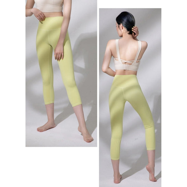 B|Fit LUXE Max Support 3/4 Legging - Light Yellow - B|Fit Amazighld