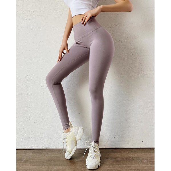 B|Fit LUXE Scrunch Bow Legging - Mauve - B|Fit Amazighld