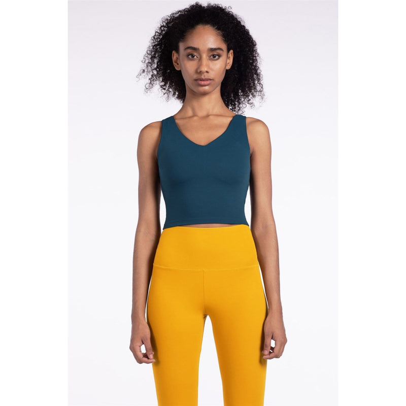 B|Fit LUXE Sports Crop - Emerald Blue - B|Fit Amazighld