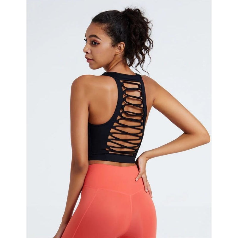 B|Fit LUXE SURGE Sports Crop - Black - B|Fit Amazighld
