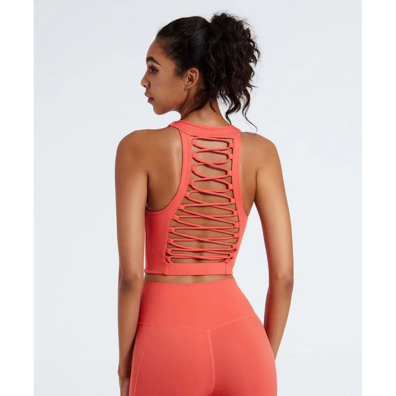 B|Fit LUXE SURGE Sports Crop - Coral - B|Fit Amazighld