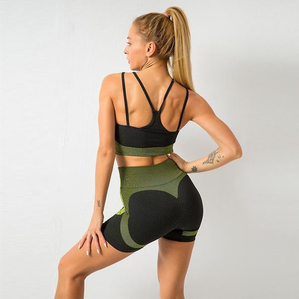 B|Fit MOMENTUM Mesh Sports Crop - Lime/Black - B|Fit Amazighld