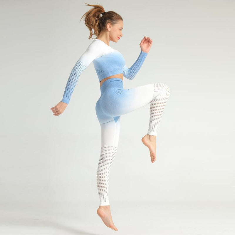 B|Fit Seamless Ombre 3.0 Legging - Sky Blue - B|Fit Amazighld