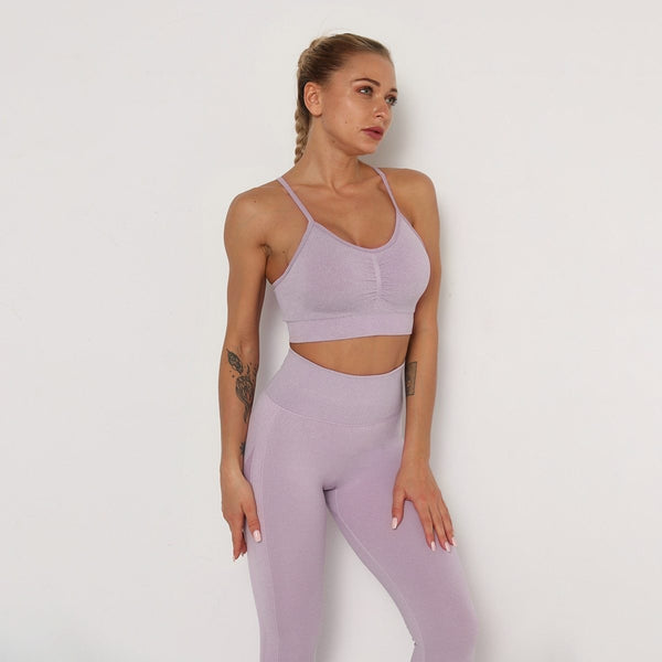B|Fit TEMPO Contour Sports Crop - Faded Lavender - B|Fit Amazighld