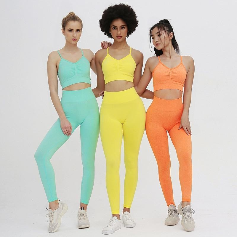 B|Fit TEMPO Sports Crop - Tangerine - B|Fit Amazighld