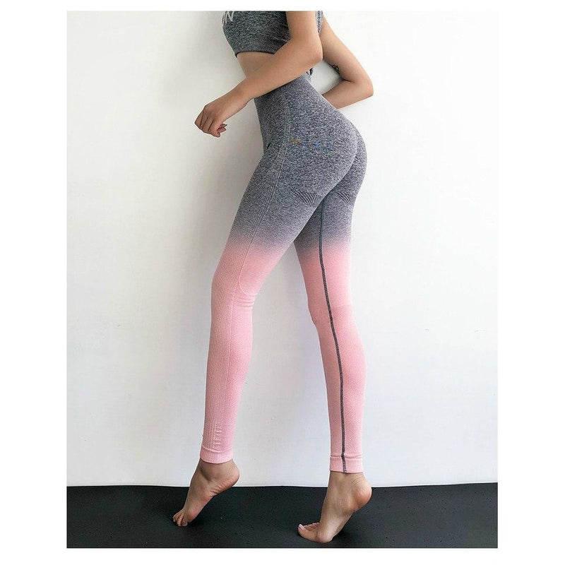 Kaya Seamless Ombre Legging - Grey Pink - B|Fit Amazighld