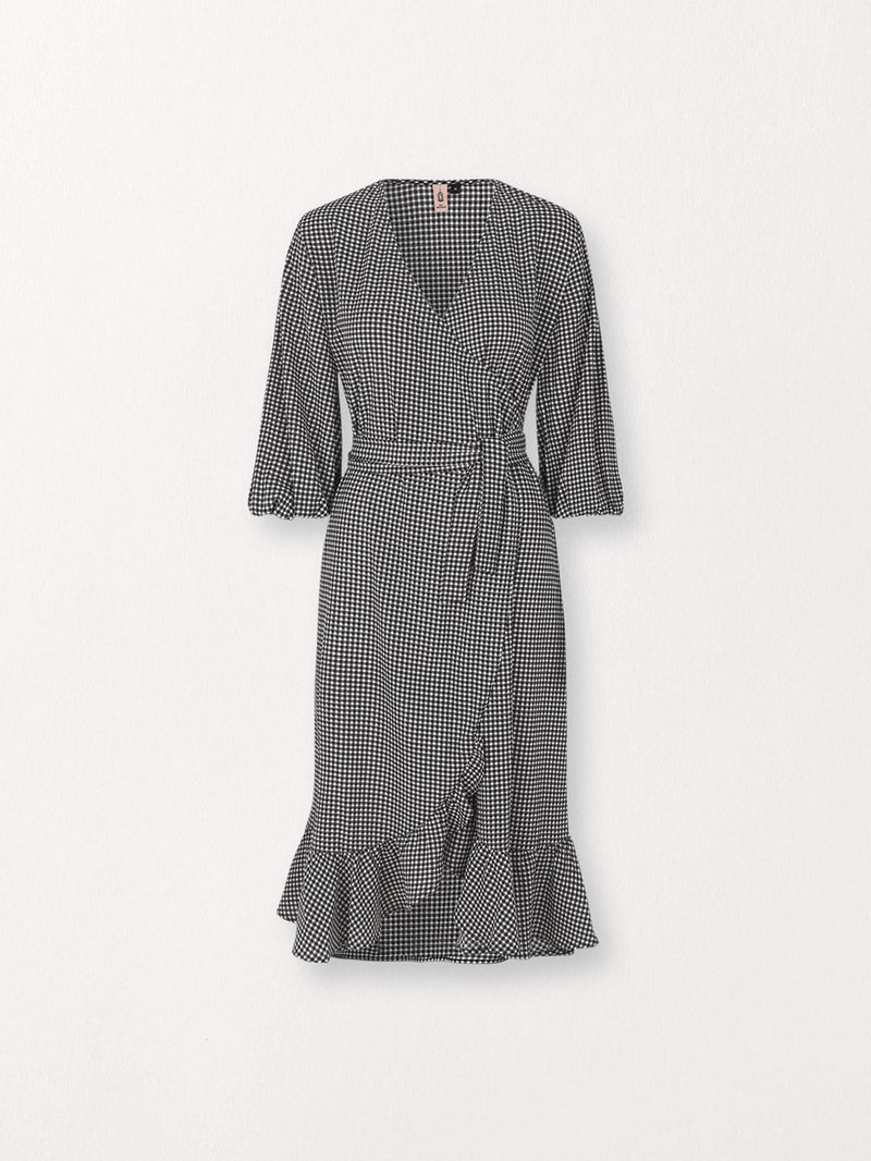 Becksöndergaard, Check Alva Dress - Black, clothing, clothing, outlet, outlet