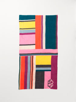 Becksöndergaard, Blockia Remi Scarf - Multi Col., scarves, scarves, gifts