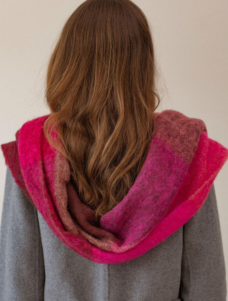 Becksöndergaard, Check Ingria Scarf - Pink, outlet flash sale, outlet flash sale, sale, sale