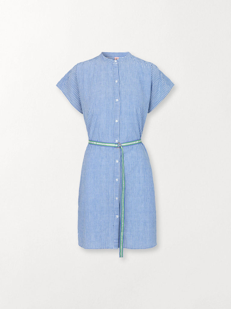 Becksöndergaard, Casey Striped - Light Blue, clothing, dresses, clothing