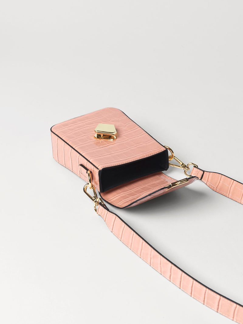 Becksöndergaard, Croc Tolla Bag - Rose Dawn, outlet flash sale, bags, outlet flash sale, mid season sale, mid season sale, sale, sale