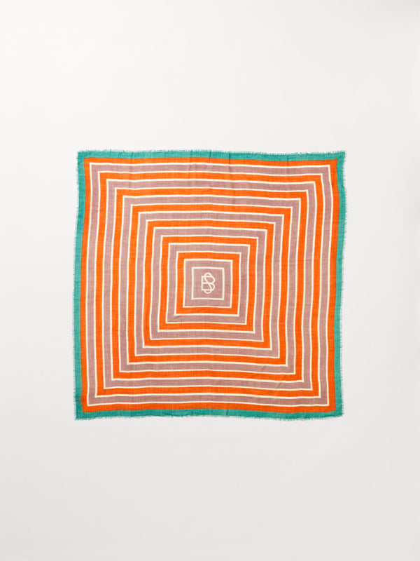 Becksöndergaard, Strillu Wica Scarf 140 x 140 - Orange, scarves, scarves, scarves, mid season sale, mid season sale