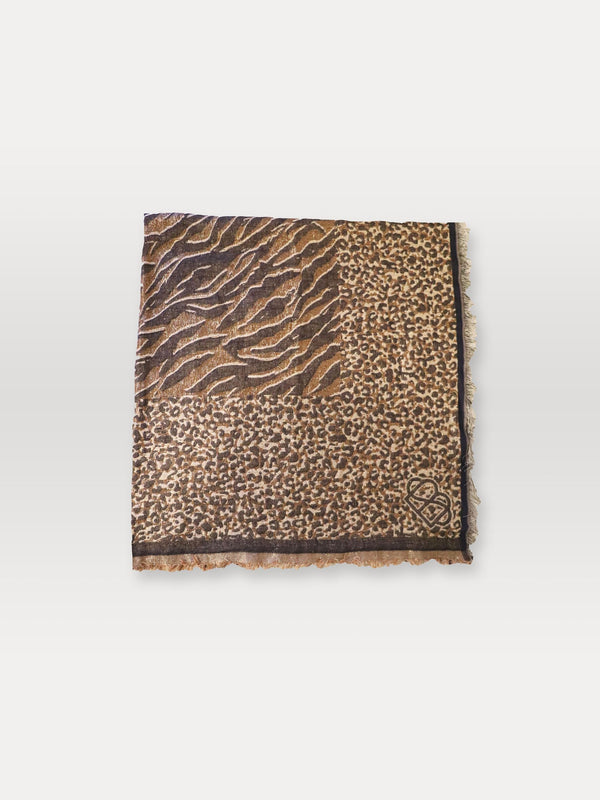 Becksöndergaard, Mixani Colur Scarf - Brownish, outlet flash sale, outlet flash sale, mid season sale, mid season sale, sale, sale