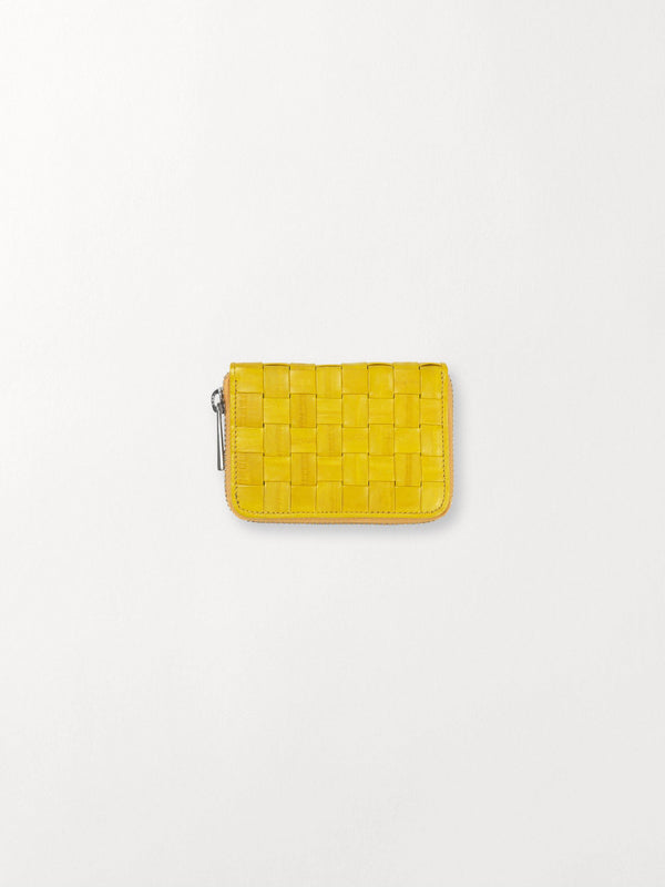 Becksöndergaard, Braidy Purse  - Yellow, wallets, accessories, wallets, accessories