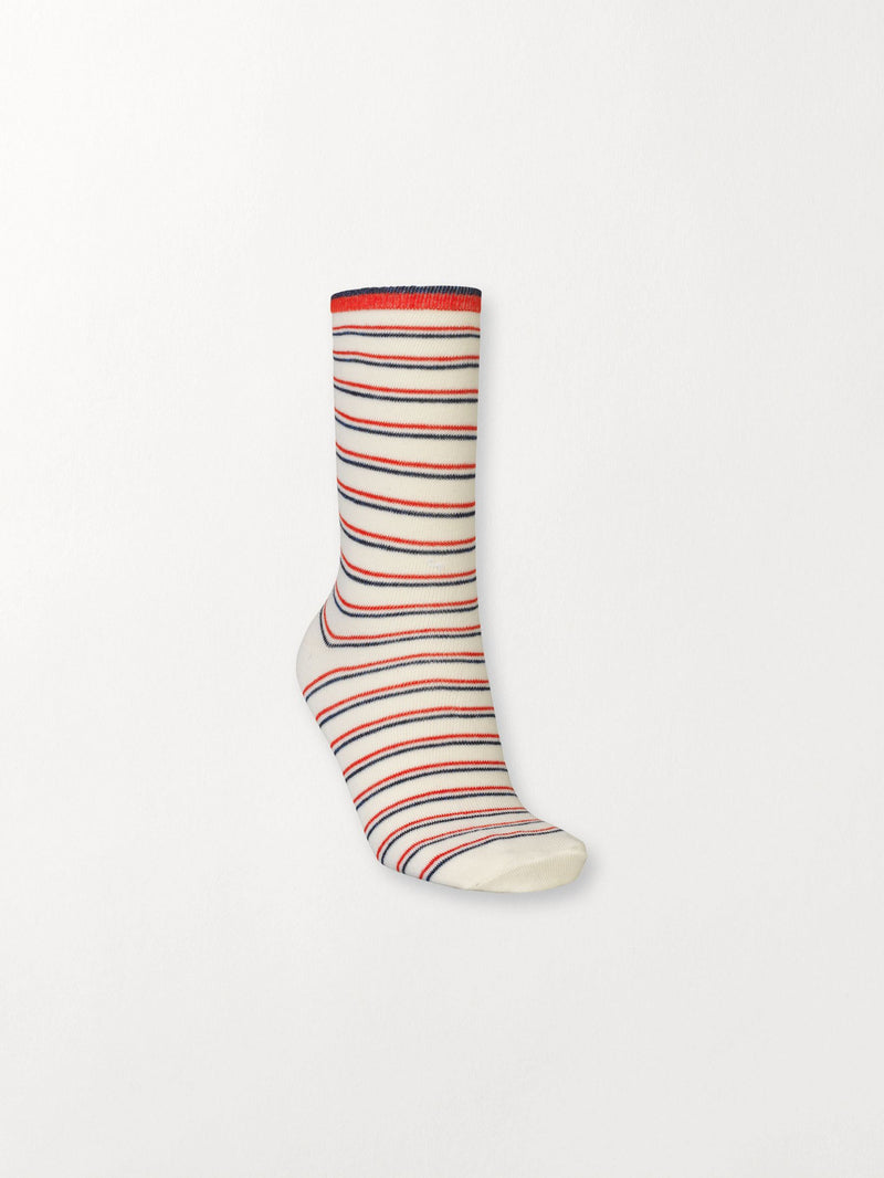 Becksöndergaard, Dory Thin Stripe Sock - Red Love, outlet, outlet