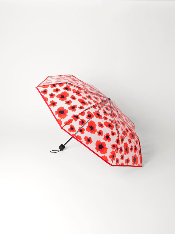 Becksöndergaard, Poppy Transparent Umbrella - Fiery Red, accessories, gifts, gifts