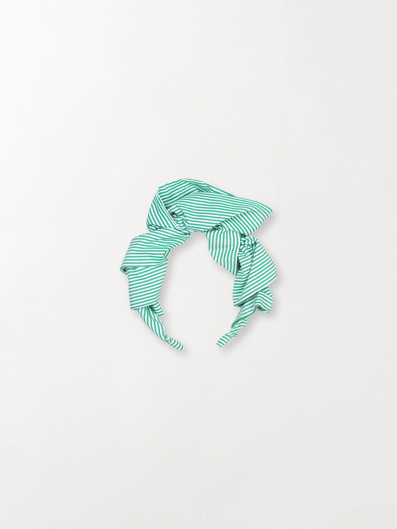Becksöndergaard, Summer Stripes Headband - Grass Green, outlet flash sale, outlet flash sale