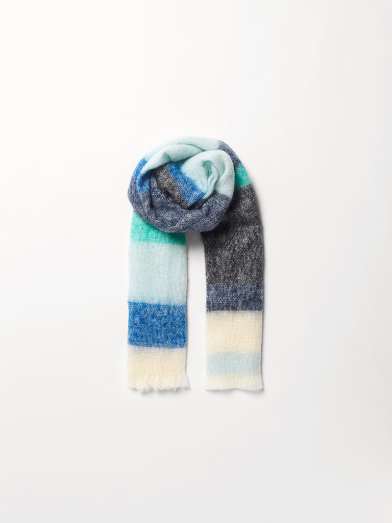 Becksöndergaard, Stripe Ingris Scarf  - Blue, outlet flash sale, outlet flash sale, sale, sale