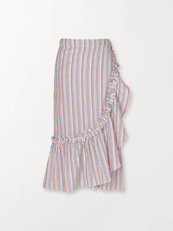 Becksöndergaard, Striped Camillia Long Skirt - Green, outlet, outlet