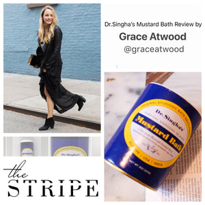 Beauty blogger Grace Atwood & Dr. Singha's Mustard Bath