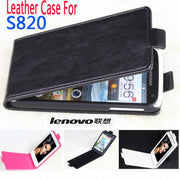 100% High Quality Leather Case For Lenovo S820 Flip Cover Case Lenovos Lenovo S 820 Leather Cover Case Phone Covers Cases