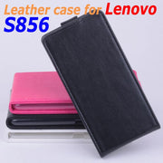 100% High Quality Leather Case For Lenovo S856 Flip Cover Case Lenovos Lenovo S 856 Leather Cover Case Phone Covers Cases
