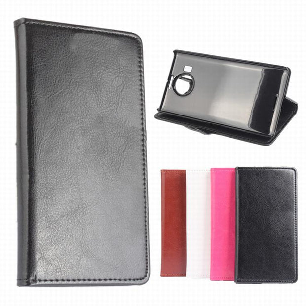 100% High Quality Leather Case For Microsoft Nokia Lumia 950XL Flip Cover Case For Lumia950XL Leather Covers Phone Cases