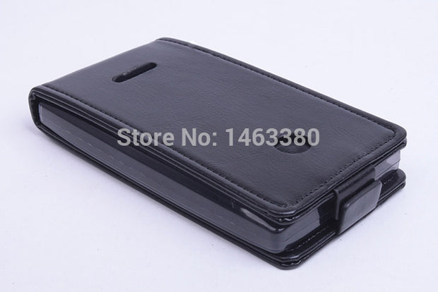 100% High Quality Leather Case For NOKIA Microsoft Lumia 435 Flip Cover Case For Lumia435 Leather Cover Case Phone Covers Cases