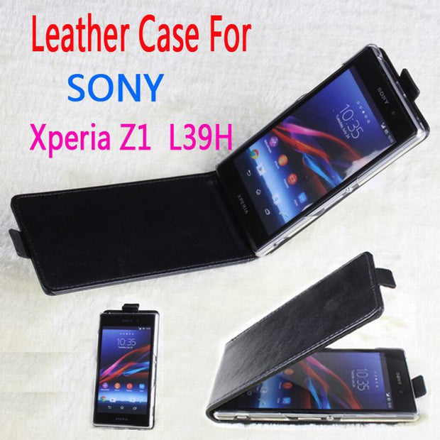 100% High Quality Leather Case For Sony Xperia Z1 L39h Flip Cover Case For Sony Z 1 XperiaZ1 Leather Cover Phone Cases