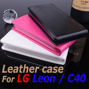 100% High Quality Luxury Leather Case For LG Leon / C40 Flip Cover Case For LG Leon C 40 Leather Cover Case Phone Covers Cases