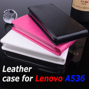 100% High Quality Luxury Leather Case For Lenovo A536 Flip Cover Case With Lenovos A 536 Phone Cover Case Cellphone Covers Cases