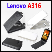 100% High Quality Luxury Leather Case For Lenovo A316 Lenovos A 316 Housing Flip Cover Cases With Mobile Phone Cases Chassis