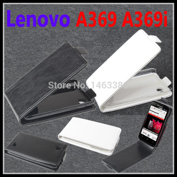 100% High Quality Luxury Leather Case For Lenovo A369 A369i Lenovos A 369 369i Housing Flip Cover Cases With Cellphone Chassis