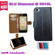 2016 Super Hot!! For BLU Diamond M D210L Case Factory Price 7 Colors Leather Exclusive Slip-resistant Phone Cover+Tracking