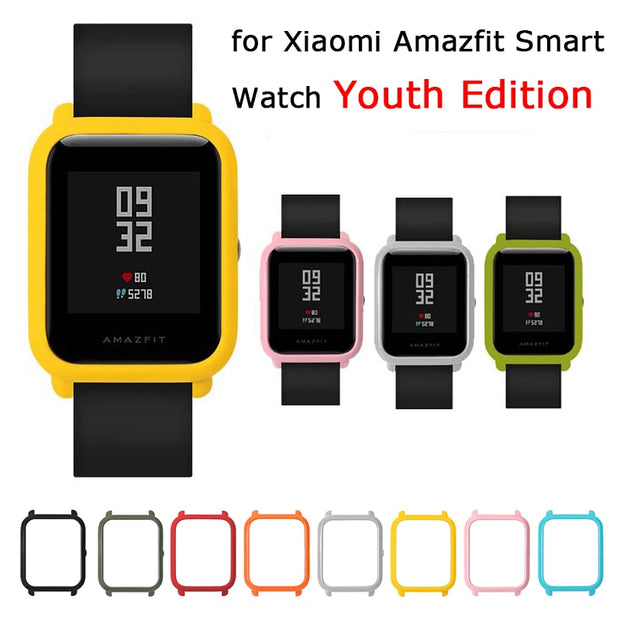 2018 New Slim Colorful Protective Case Cover For Xiaomi Huami Amazfit Bip BIT PACE Lite Youth Watch Hard Plastic PC Shell Bumper